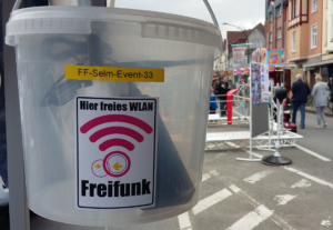 Zum Selmer Stadtfest 2016: WLAN im Eimer