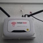Testphase, FF-Router auf vorh. Router fixiert